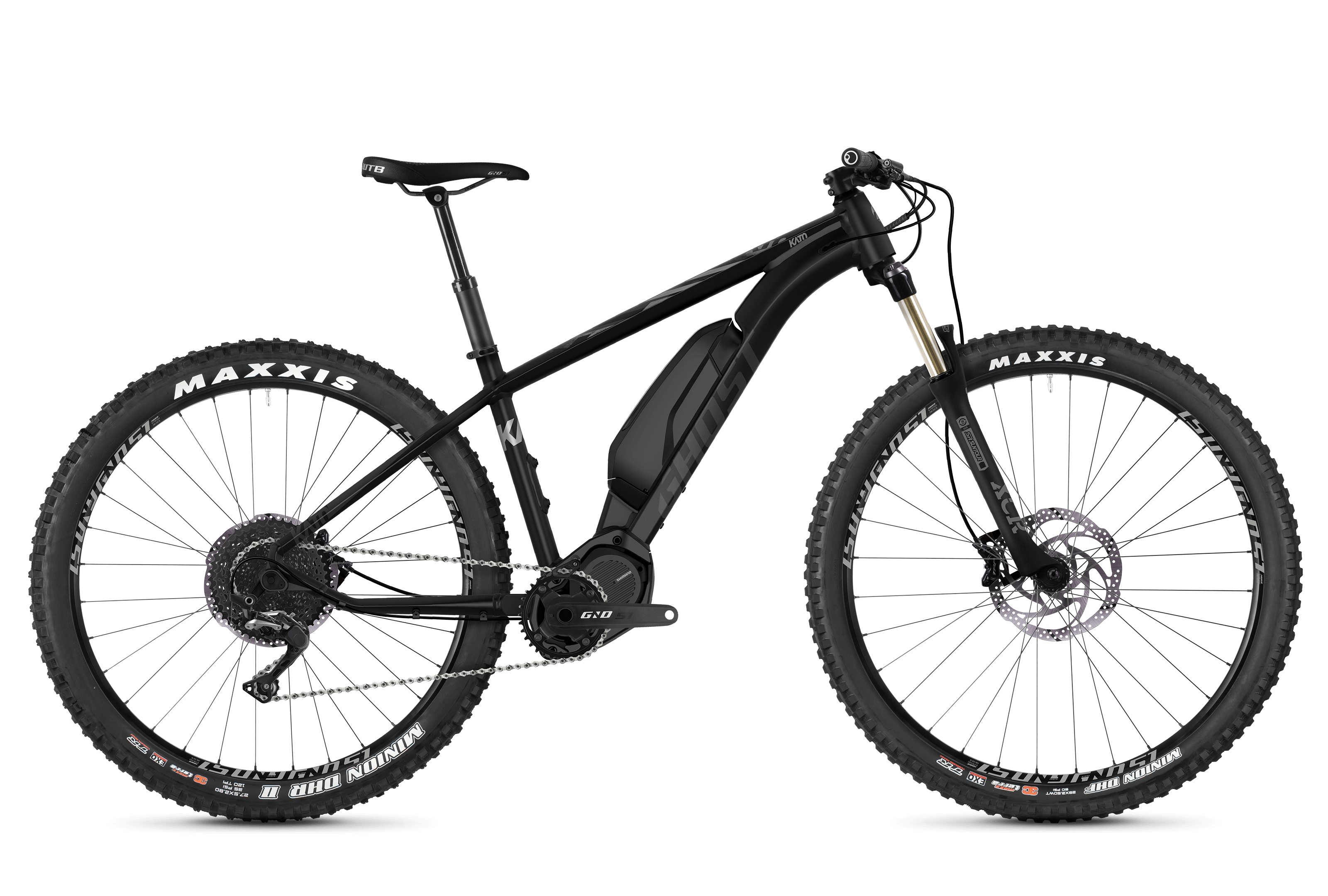 GHOST Ebike Kato X S5.7+ Night Black / Jet Black / Iridium Silver - XL (185-200cm)