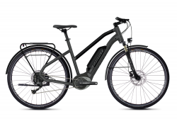 GHOST Ebike SQUARE TREKKING B1.8 LADIES Titanium Gray / Jet Black / Iridium Silver - S (155-170cm)