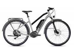 GHOST Ebikes SQUARE TREKKING B2.8 LADIES Iridium Silver / Jet Black - XS (145-160cm)